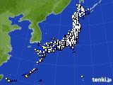 2015年02月08日のアメダス(風向・風速)