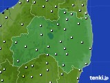 福島県のアメダス実況(風向・風速)(2015年02月08日)