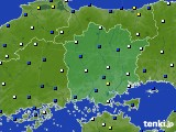 岡山県のアメダス実況(風向・風速)(2015年02月08日)