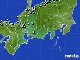 東海地方のアメダス実況(降水量)(2015年02月09日)