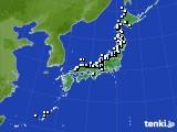 アメダス実況(降水量)(2015年02月09日)