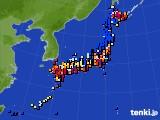 アメダス実況(日照時間)(2015年02月09日)