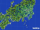 関東・甲信地方のアメダス実況(気温)(2015年02月09日)