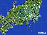 関東・甲信地方のアメダス実況(風向・風速)(2015年02月09日)