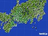 東海地方のアメダス実況(風向・風速)(2015年02月09日)