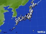 アメダス実況(風向・風速)(2015年02月09日)
