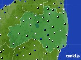福島県のアメダス実況(風向・風速)(2015年02月09日)