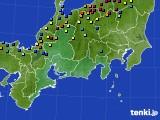 東海地方のアメダス実況(積雪深)(2015年02月10日)
