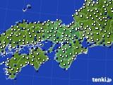 近畿地方のアメダス実況(風向・風速)(2015年02月10日)