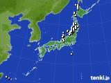 アメダス実況(降水量)(2015年02月11日)
