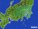 関東・甲信地方のアメダス実況(積雪深)(2015年02月11日)