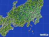 関東・甲信地方のアメダス実況(気温)(2015年02月11日)