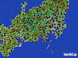 関東・甲信地方のアメダス実況(日照時間)(2015年02月12日)