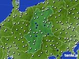 長野県のアメダス実況(風向・風速)(2015年02月12日)