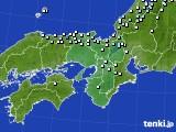 近畿地方のアメダス実況(降水量)(2015年02月13日)