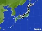 アメダス実況(降水量)(2015年02月13日)
