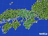近畿地方のアメダス実況(風向・風速)(2015年02月13日)