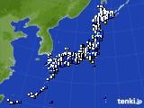 アメダス実況(風向・風速)(2015年02月13日)
