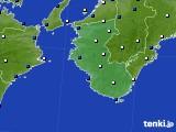 和歌山県のアメダス実況(風向・風速)(2015年02月13日)