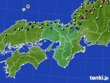 近畿地方のアメダス実況(積雪深)(2015年02月14日)