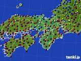 近畿地方のアメダス実況(日照時間)(2015年02月14日)