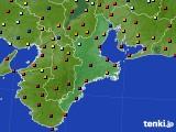 三重県のアメダス実況(日照時間)(2015年02月14日)