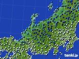 北陸地方のアメダス実況(気温)(2015年02月14日)