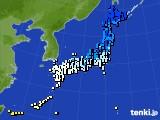 アメダス実況(気温)(2015年02月14日)