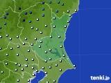 茨城県のアメダス実況(気温)(2015年02月14日)