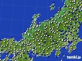 北陸地方のアメダス実況(風向・風速)(2015年02月14日)