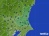 茨城県のアメダス実況(風向・風速)(2015年02月14日)