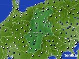 長野県のアメダス実況(風向・風速)(2015年02月14日)