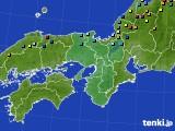近畿地方のアメダス実況(積雪深)(2015年02月15日)