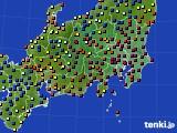 関東・甲信地方のアメダス実況(日照時間)(2015年02月15日)