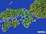 近畿地方のアメダス実況(日照時間)(2015年02月15日)
