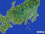 関東・甲信地方のアメダス実況(気温)(2015年02月15日)