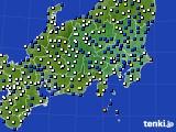 関東・甲信地方のアメダス実況(風向・風速)(2015年02月15日)