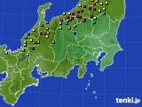 関東・甲信地方のアメダス実況(積雪深)(2015年02月16日)