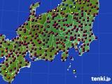 関東・甲信地方のアメダス実況(日照時間)(2015年02月16日)
