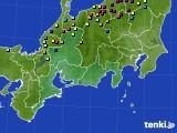 東海地方のアメダス実況(積雪深)(2015年02月17日)