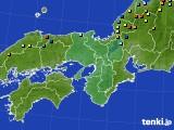 近畿地方のアメダス実況(積雪深)(2015年02月17日)
