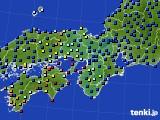 近畿地方のアメダス実況(日照時間)(2015年02月17日)