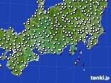 東海地方のアメダス実況(風向・風速)(2015年02月17日)
