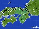 近畿地方のアメダス実況(降水量)(2015年02月18日)