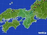 近畿地方のアメダス実況(積雪深)(2015年02月18日)