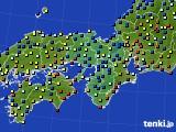 近畿地方のアメダス実況(日照時間)(2015年02月18日)