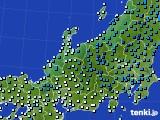 北陸地方のアメダス実況(気温)(2015年02月18日)