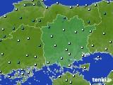 岡山県のアメダス実況(気温)(2015年02月18日)