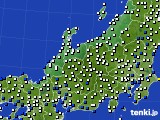 北陸地方のアメダス実況(風向・風速)(2015年02月18日)