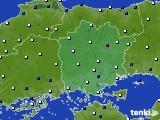 岡山県のアメダス実況(風向・風速)(2015年02月18日)